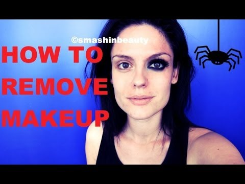 Fast makeup removal (Heavy makeup - Halloween makeup) - YouTube
