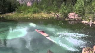 Прыжок в бездну Голубого озера (АЛТАЙ 31.07.2015г.)(, 2015-09-02T18:07:13.000Z)