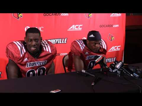 Lamar Jackson & Charles Standberry Post-Practice #4 of Fall Camp 8-3-2017
