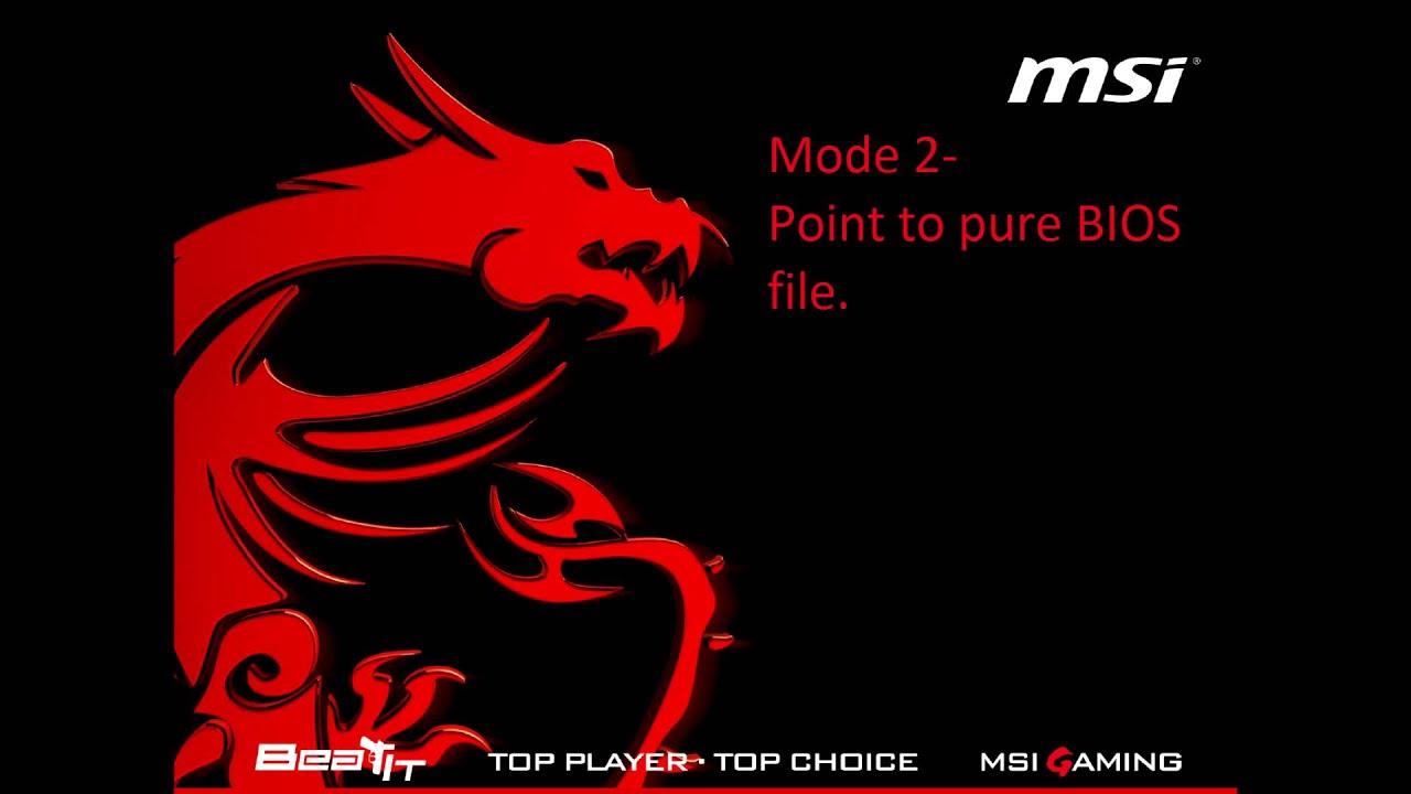 How To Flash BIOS Using MSI Forum Tool  Tutorial