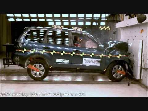 Crash Test 2009 - 2010 Subaru Forester (Full Frontal Impact) NHTSA