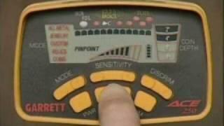 garrett ace 250 metal detector instructional video part i