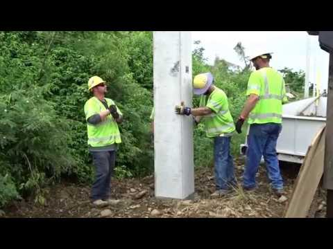 Puerto Rico Hurricane Maria Relief Pole Placement 11.23.2017