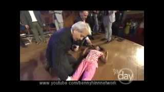 Benny Hinn - 20 year old girl walking for the first time in her life