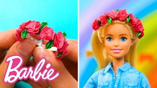 9 BARBIE DIY RAINBOW SUMMER PARTY IDEAS with COLOR REVEAL DOLLS | 5-Minute Crafts x Barbie | Barbie