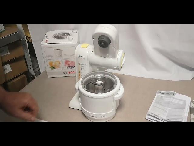 Bosch fagylaltkészítő bemutatása MUZ4EB1