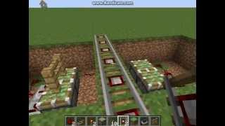 Minecraft - How To Make A Simple Level Crossing (HD)