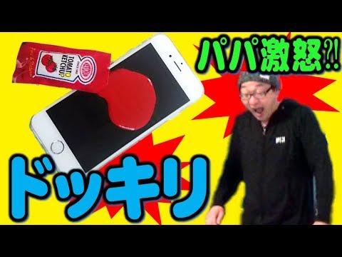 【ドッキリ】パパお誕生日サプライズ?!iPhoneが\(◎o◎)/パパまさかの激怒か?! 【しほりみチャンネル】  夾娃娃機,晴芸,嘉芸