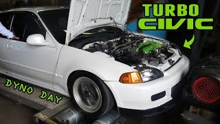 homepage tile video photo for John's TURBO B18 CIVIC HATCH Hits the DYNO! (finally...)