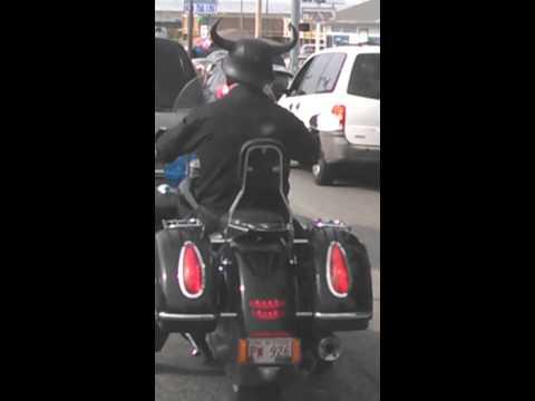 Don horn helmet.