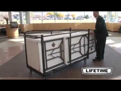 Lifetime Table Cart   80193 Folding Table Storage Truck