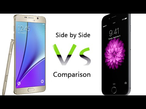 Side by side comparison iphone 5 and galaxy s4