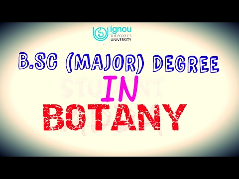 B.SC MAJOR DEGREE IN BOTANY!