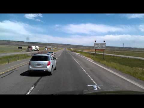 Truckin' through Laramie, Wyoming on Interstate 80 Eastbound