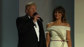 President Trump arrives at Liberty ball