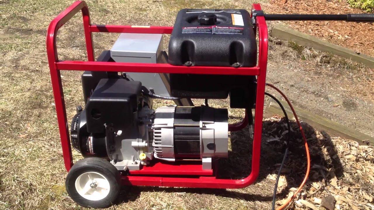 Generac 5000 Watt Portable Generator Cold Start & Load Test 4 12