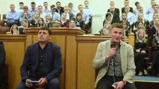 15 Панельне обговорення Молодіжна обласна конференція Церкви ХВЄ в Рівненській обл.