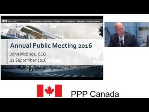 PPP Canada Annual Public Meeting 2016 -- English