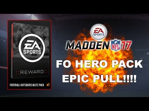 EPIC PULL!!!! FOOTBALL OUTSIDERS HERO PACK | MUT 17