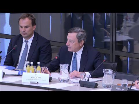 Exchange of views: ECB President Mario Draghi with members o