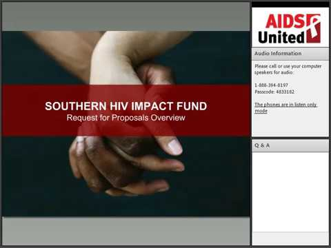 Southern HIV Impact Fund RFP Technical Assistance Webinar