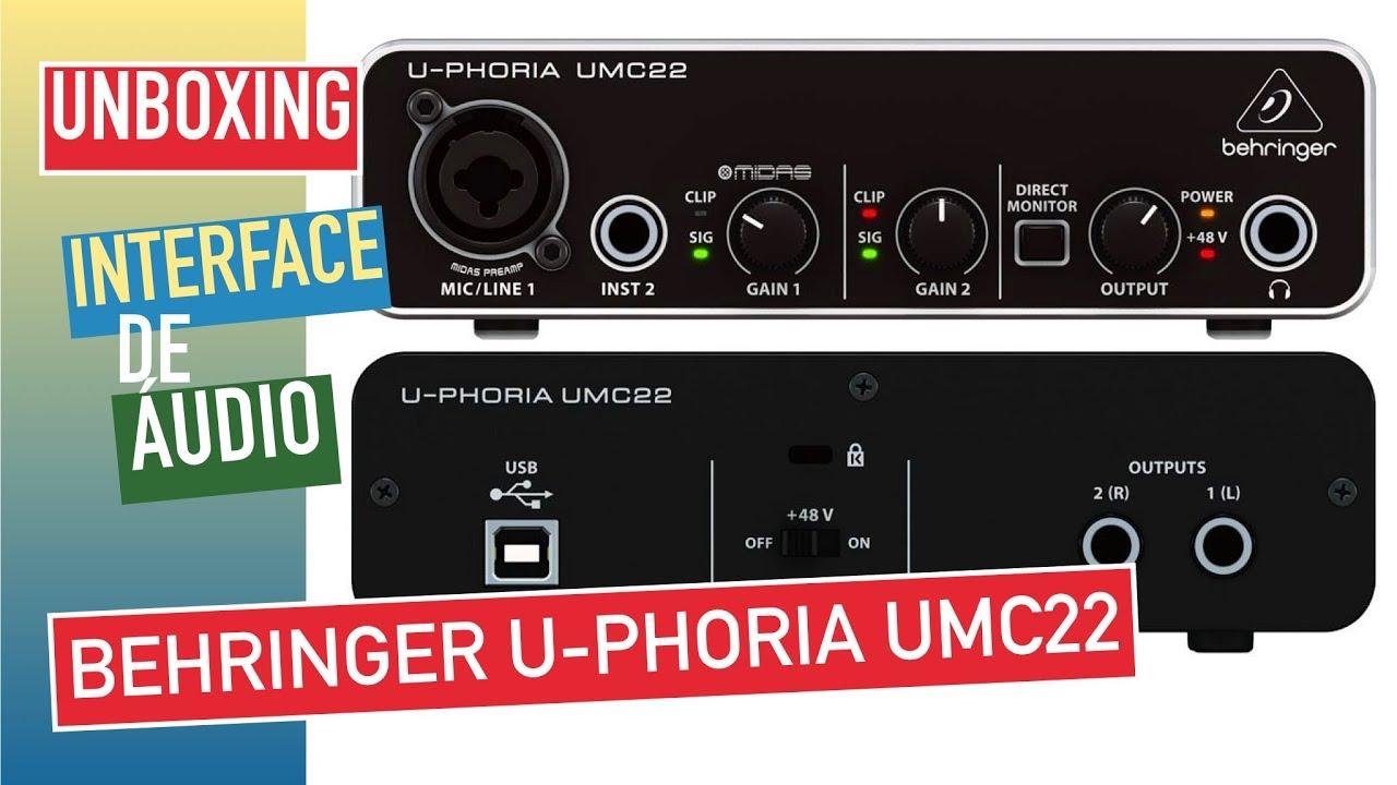Interface de Áudio Behringer U-Phoria UMC22 Melhor Custo Benefício