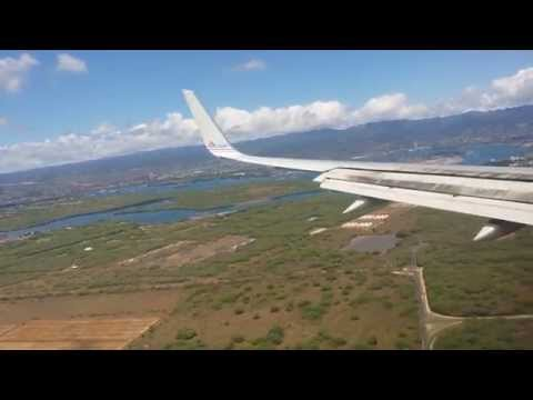 (HD) American Airlines Boeing 757-200 Landing Honolulu (HNL)