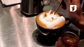 Утренний эфир / Создаем рисунки на кофе