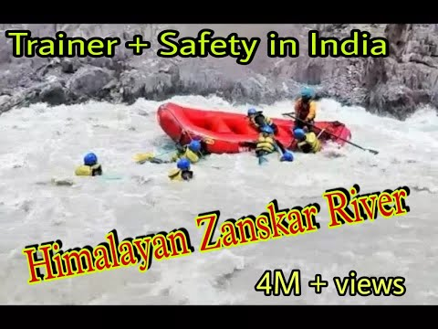 Ladakh Raft flip and Rescue |Salute to Trainer |River Rafting in Leh Ladakh - Toughest in India