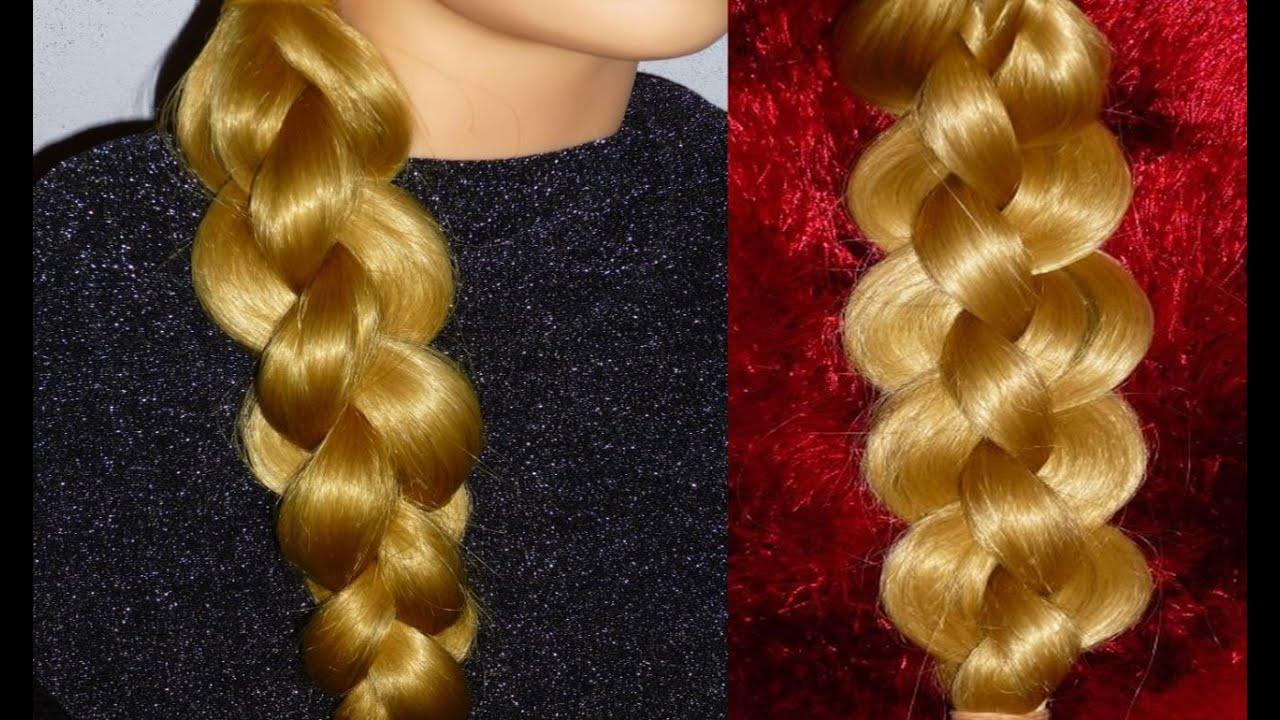плести косы из 4 прядей схема плетения