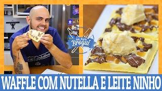 COMO FAZER WAFFLE COM NUTELLA E LEITE NINHO | Ana Maria Brogui #442(, 2017-02-15T13:00:01.000Z)