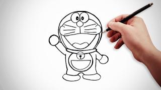 สอนวาดรูป | โดเรมอน (อนิเมะ) How to draw cartoons | anime Doraemon