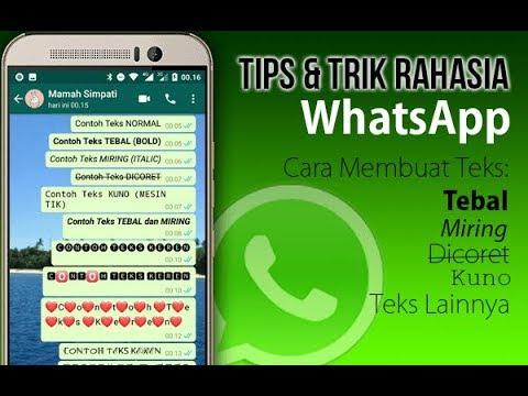 Cara Membuat Teks Tebal Miring dan Unik di WhatsApp