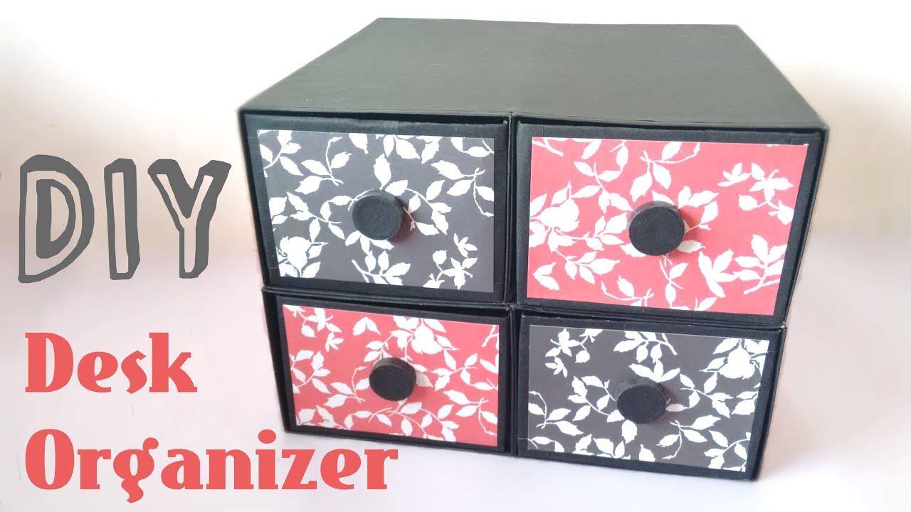 Diy desk organizer drawers by srushti patil youtube solutioingenieria Gallery