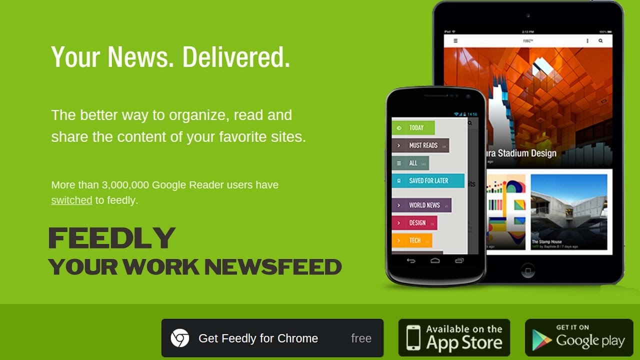 Feedly Android Application (Review) - YouTube