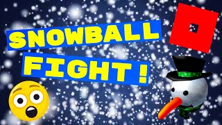 THE GREATEST SNOWBALL FIGHT!⛄ Sno Day (ROBLOX)