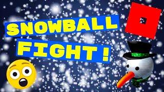 DER GRÖßTE SNOWBALL FIGHT!⛄ Sno Day (ROBLOX)