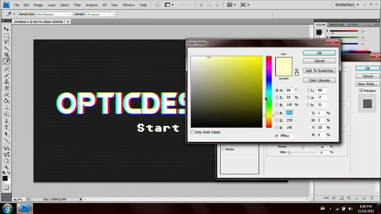 how to make a vhs effect in photoshop