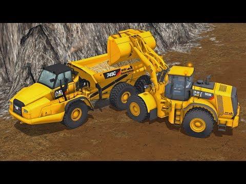 LIMESTONE QUARRY MAKING CEMENT | CAT 745C & 980K