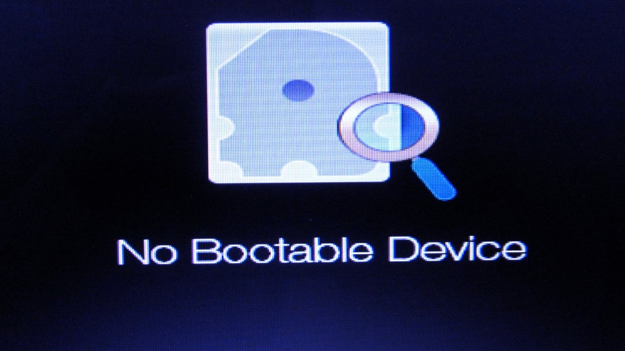 mac os x no bootable device