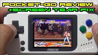 Pocket-GO retro gaming handheld review + screen tear fix!