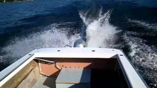 Хонда БФ 40 на мій проект 18 алюмінієвий човен футів. Частина 3