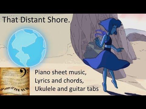 Steven Universe - That Distant Shore - Piano sheet music, lyrics/chords/tabs