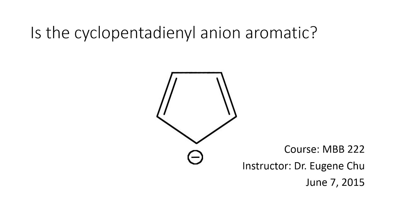 hight resolution of cyclopentadienyl anion
