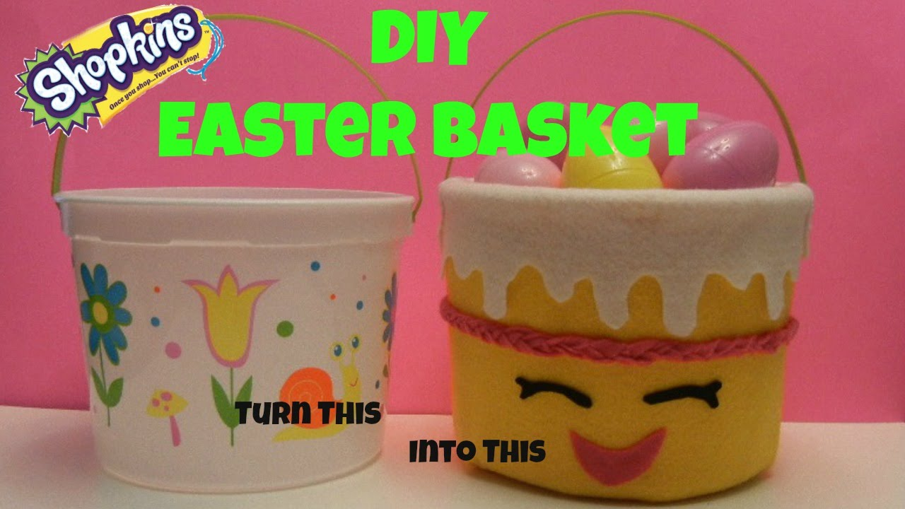 Diy how to make an easy shopkins easter basket bucket or birthday diy how to make an easy shopkins easter basket bucket or birthday wishes craft project youtube negle Gallery