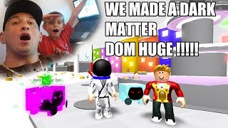ROBLOX Turning Rainbow Dom Huge Into Dark Matter ( Pet Simulator )
