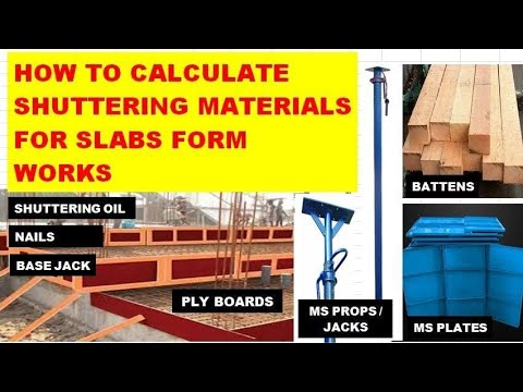 Slab Shuttering Material Calculation By Thumbrule Method