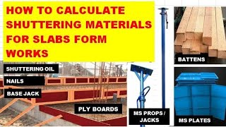 Shuttering Material Calculation by Thumbrule Method