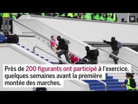 Exercice antiterroriste au Palais des festival de Cannes