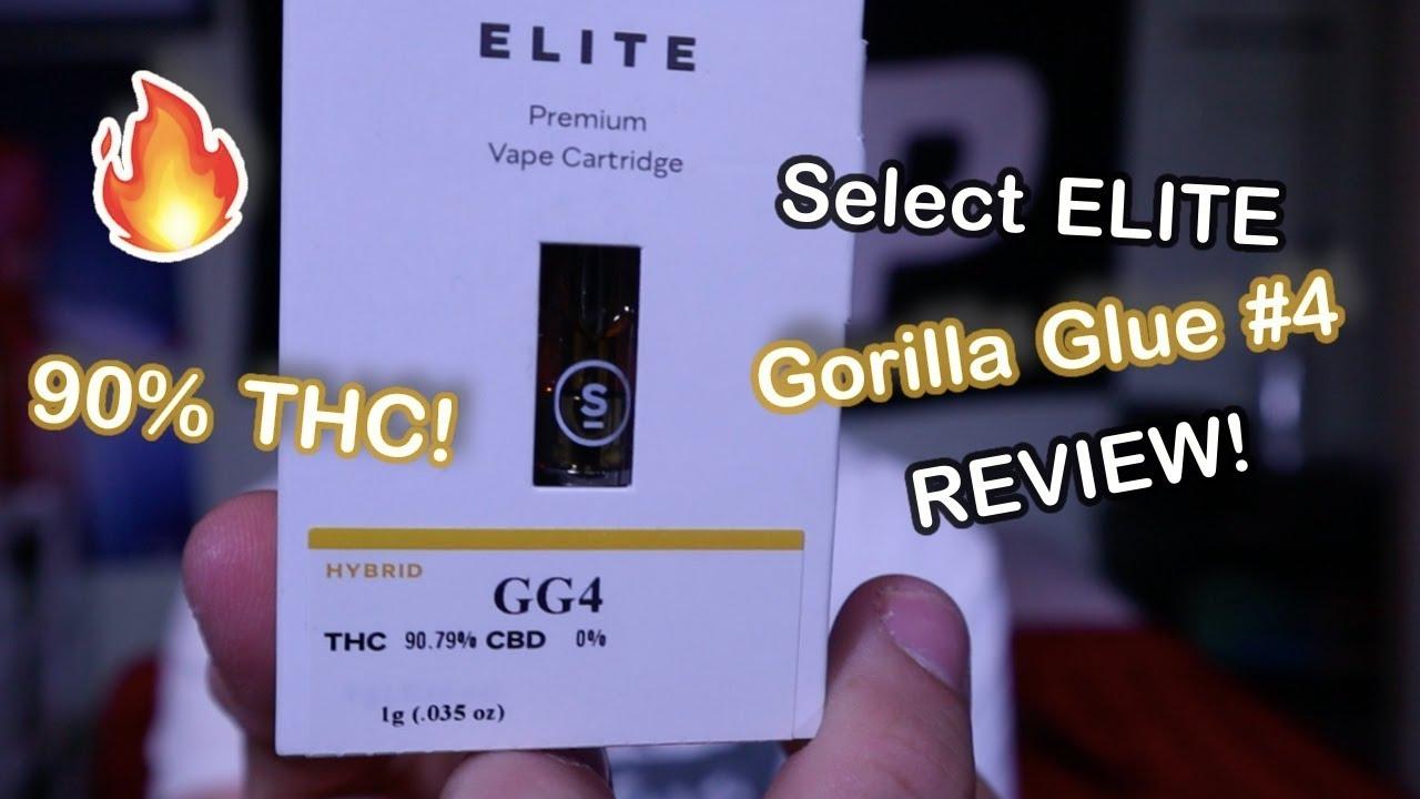 Select ELITE Gorilla Glue #4 Premium Vape Cartridge REVIEW!